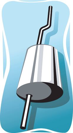 exhaust: Illustration of exhaust pipe in vehicle