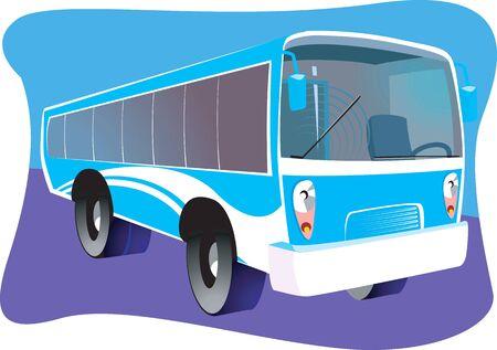 high society: Illustration of a transport bus