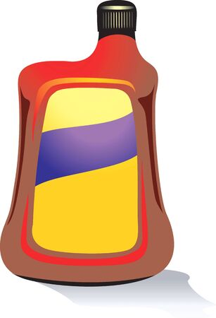 lube: Illustration of a plastic container for lubricants  Stock Photo