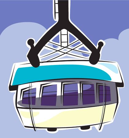 Illustration of arrow cable car