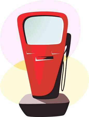 fuelling pump: Illustration of a fuel transfer pump  Stock Photo