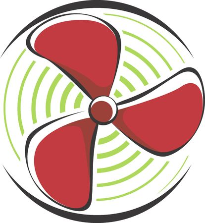cooling: Illustration of a fan using for cooling in engines  Stock Photo
