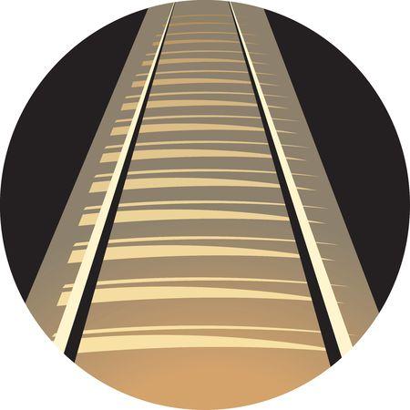 Illustration of a railway track  illustration