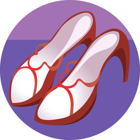 heel strap: Illustration of a ladies high heel footwear  Stock Photo