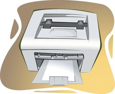 Illustration of a  printer Stock Illustration - 3390512