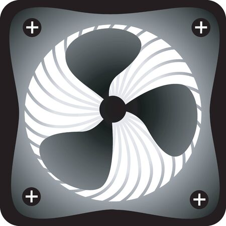 exhaust fan: Illustration of a black and white coloured exhaust fan