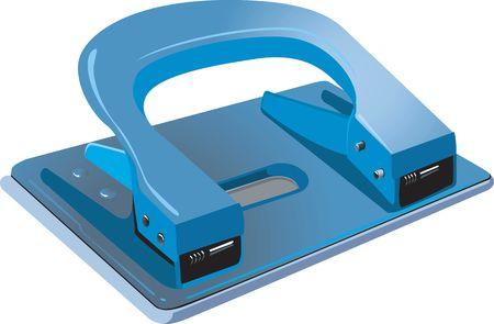 hole puncher: Illustration of Blue Paper Puncher