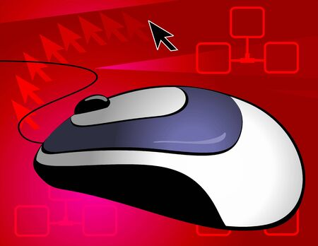 clique: Illustration of Optical mouse with chord  Stock Photo