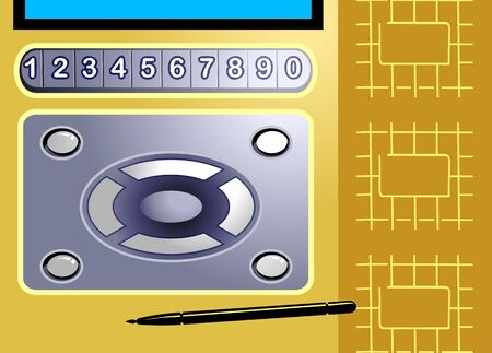 Illustration of button pad of a mobilephone Stock Illustration - 3390731