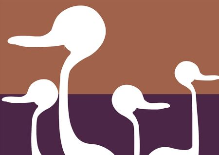 Illustration of a ostrich running Stock Illustration - 3418172