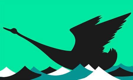 Illustration of a swan flying Stock Illustration - 3418167