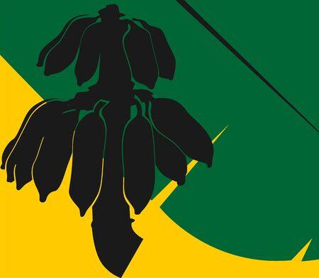 Illustration of silhouette of bananas