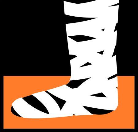 bandaging: Illustration of dressing bandages in a leg