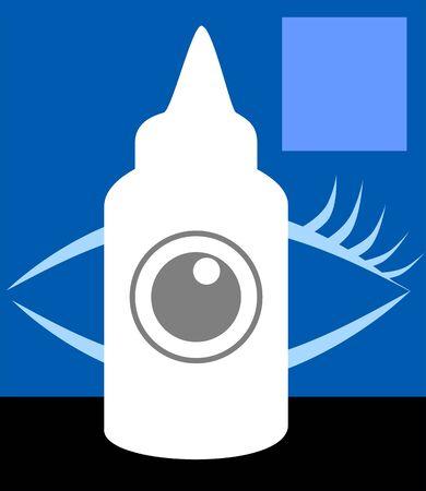 lube: Illustration of a eye drop medicine