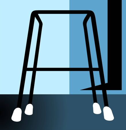 Illustration of a walker using by handicaps Stock Illustration - 3419806