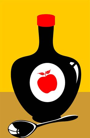 Illustration of syrup bottle and  spoon Stock Illustration - 3419751