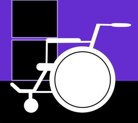 wheel chair: Illustration of a wheel chair