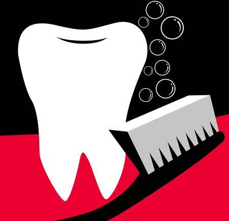Illustration of tooth brush Stock Illustration - 3419818