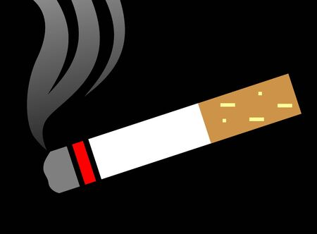 injurious: Illustration of a lighted cigarette