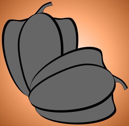 Illustration of silhouette of  capsicum   Imagens