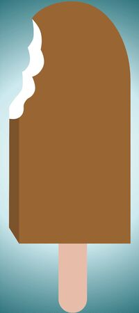 Illustration of a chocolate ice candy  illustration