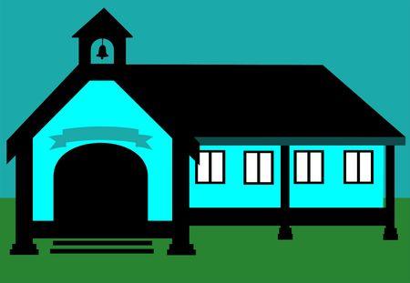 Illustration of entrance of a school  illustration