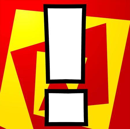 exclamatory: Illustration of a exclamatory mark  Stock Photo