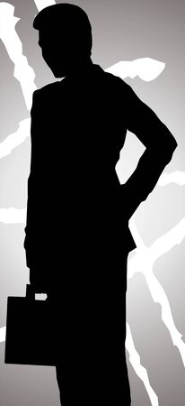Illustration of silhouette of a man  illustration