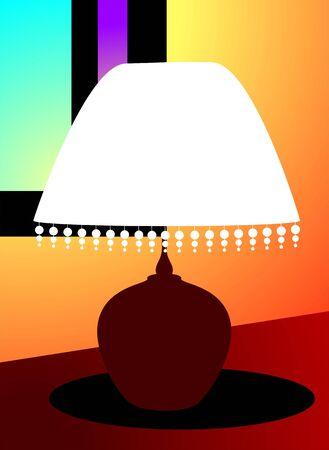 Illustration of a table lamp  illustration