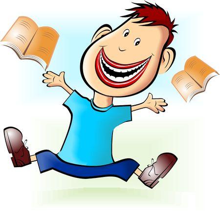 Illustration of a cartoon boy