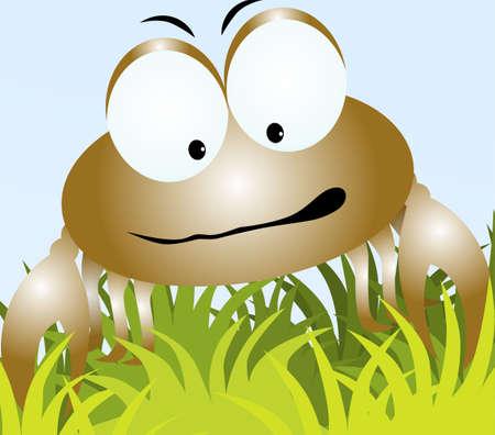 cangrejo caricatura: Ilustraci�n de un cangrejo de dibujos animados