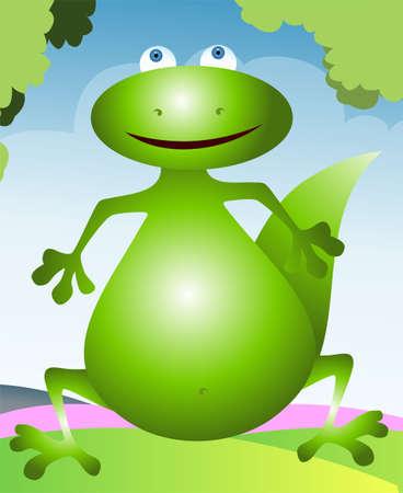 Illustration of a cartoon dinosaur Stock Illustration - 3434333