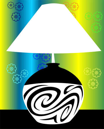 Illustration of a table lamp  illustration