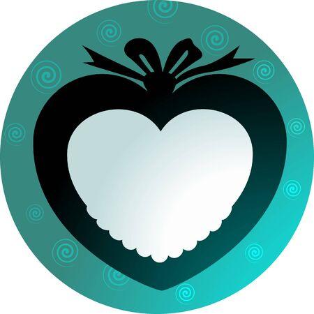 medaglione: Illustrazione a forma di cuore medaglione