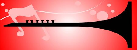 clarinet: Illustration of silhouette of a clarinet   Stock Photo