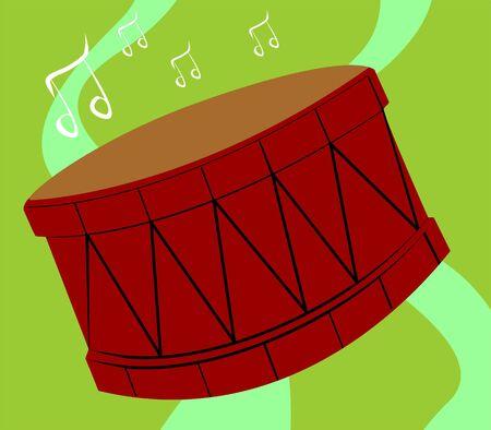 Illustration de la silhouette d'un tambour Banque d'images - 3444001