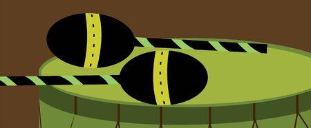 Illustration de la silhouette d'un tambour Banque d'images - 3443899