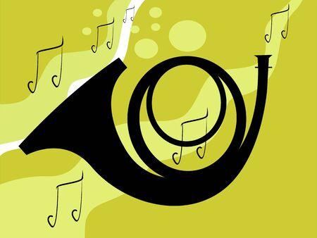 Illustration de la silhouette d'un saxophone Banque d'images - 3443973