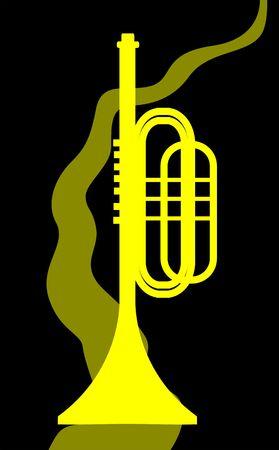 Illustration de la silhouette d'un clairon Banque d'images - 3443912