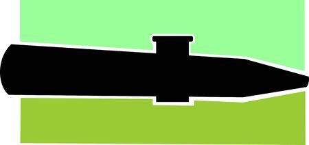 Illustration de la silhouette de la clarinette Banque d'images - 3443901