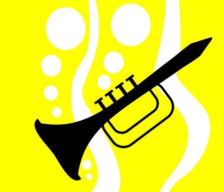 Illustration de la silhouette de la clarinette Banque d'images - 3443971