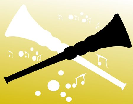 Illustration de la silhouette d'une clarinette Banque d'images - 3443937