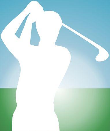 Illustration of golf player  illustration