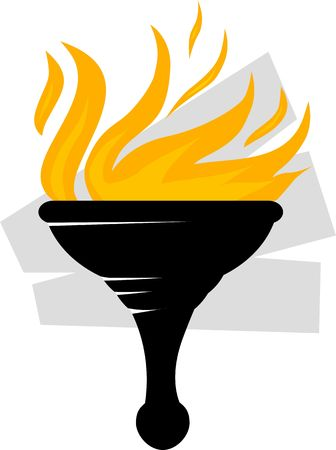 torch light: Illustration of a fire torch  Stock Photo