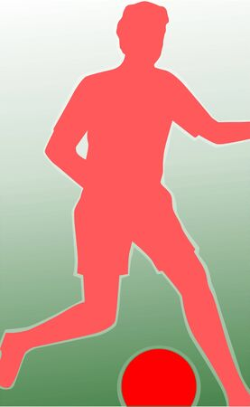 Illustration of a football player  illustration