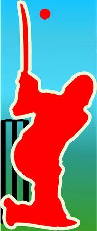 Illustration of a cricket batsman Stock Illustration - 3456698