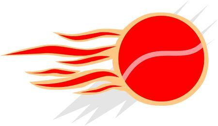 Illustration of a flamer tennis ball  illustration
