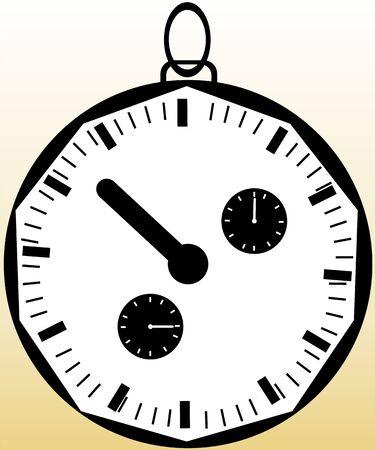 chronometer: Illustration of white dial chronometer