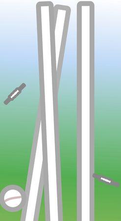 Illustration of cricket stumps Stock Illustration - 3456702
