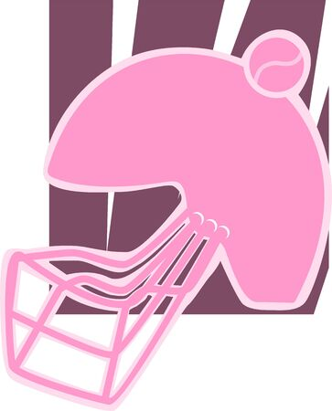 Illustration of silhouette of a sports helmet